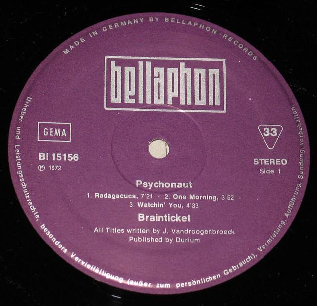 BRAINTICKET PSYCHONAUT BELLAPHON 15156 KRAUT