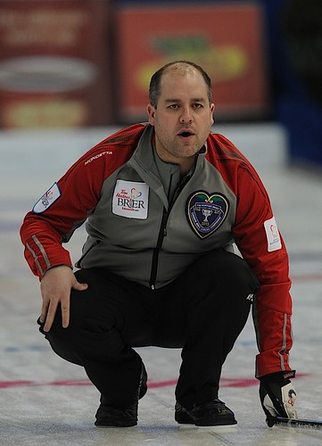 Edmonton Ab.Mar3,2013.Tim Hortons Brier.N.W.T./Yukon.skip Jamie Koe.CCA/michael burns photo | by seasonofchampions