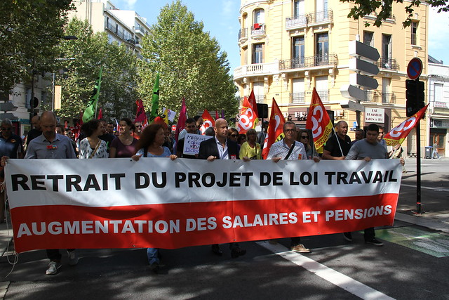 """Manifestation intersyndicale """"Loi Travail"""" le 15 septembre 2016 à Perpignan"""