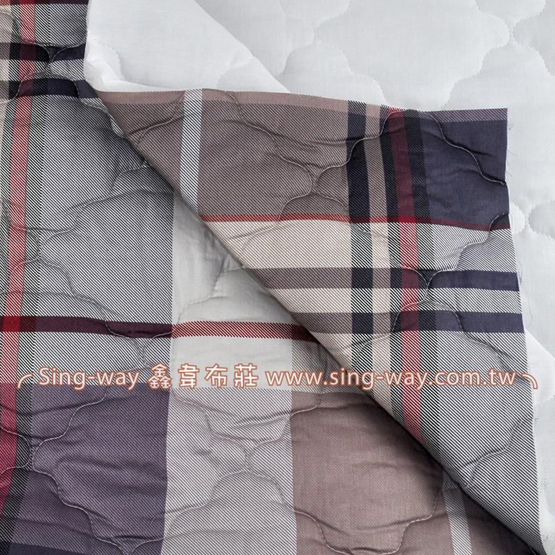 【限宅配】卡其方格調 簡約格紋 精梳棉鋪棉床品床單布料 B990078