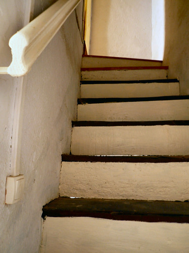Stair risers painted cream