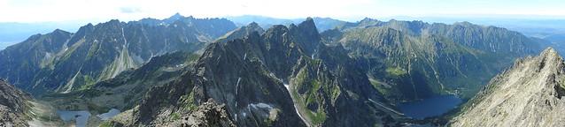 Panorama from Rysy peak, High Tatras, Slovakia