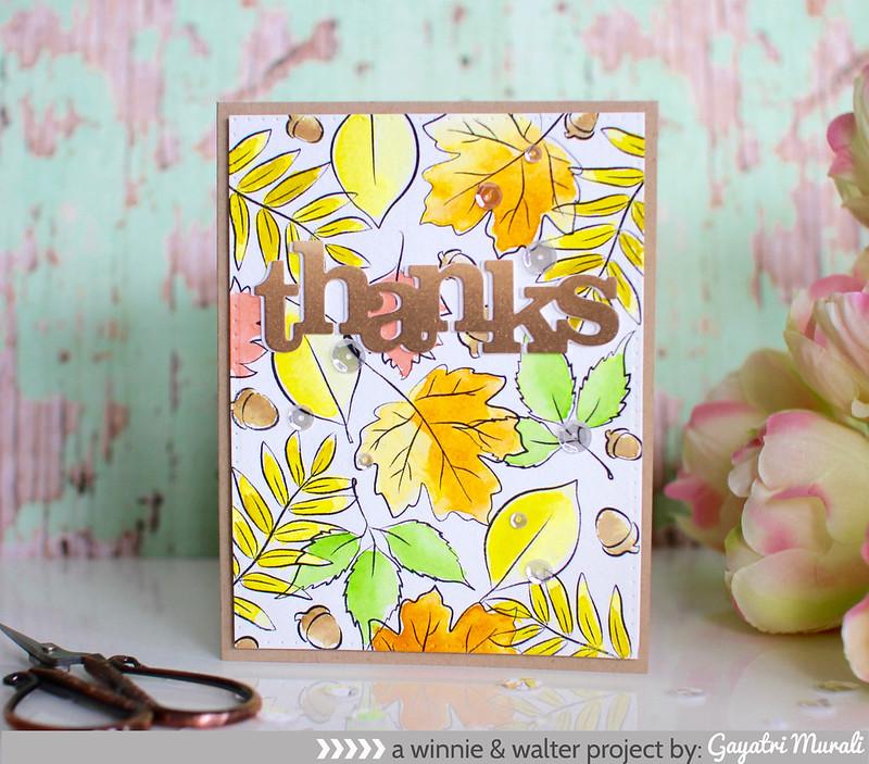 Renee's leaves card 1