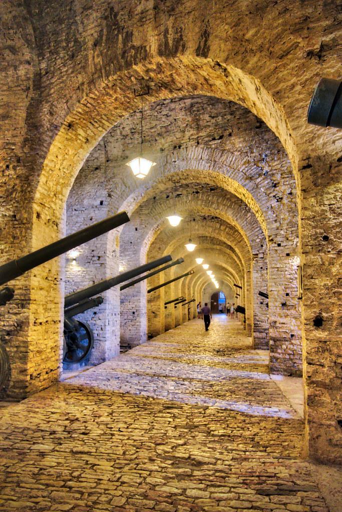 Inside Gjirokastër Castle