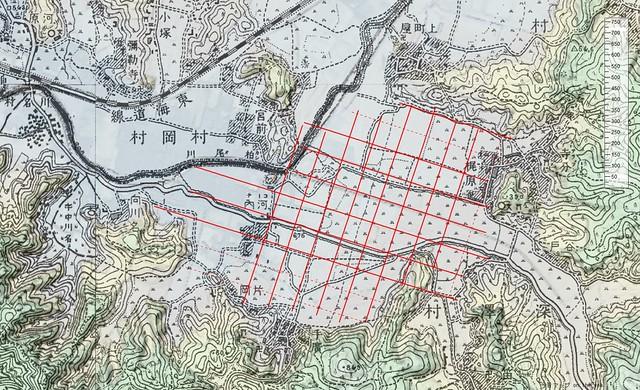 旧版地図で見る鎌倉市の旧深沢村周辺の条理地割
