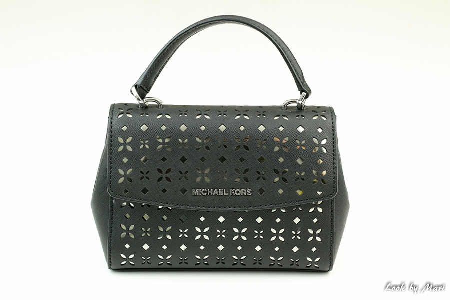 7 Michael Kors Ava XS Laser-Cut Crossbody Bag Black Nickel