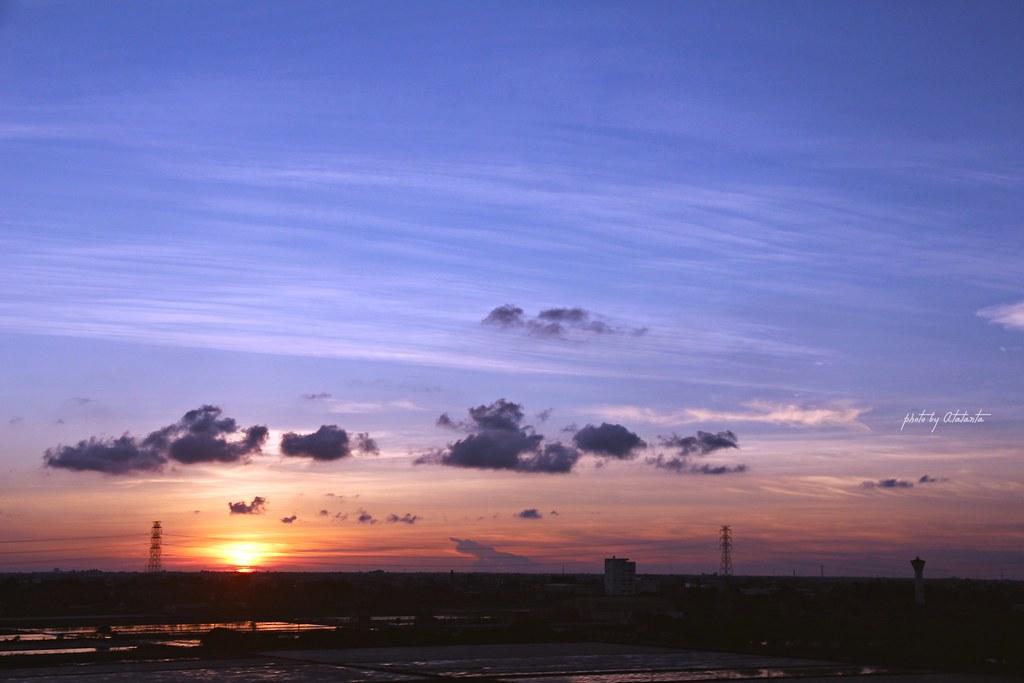 高鐵拍夕陽