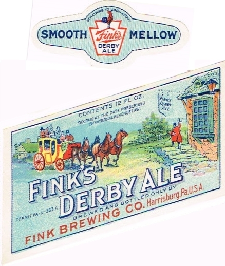 Finks-Derby-Ale--Labels-Fink-Brewing-Company