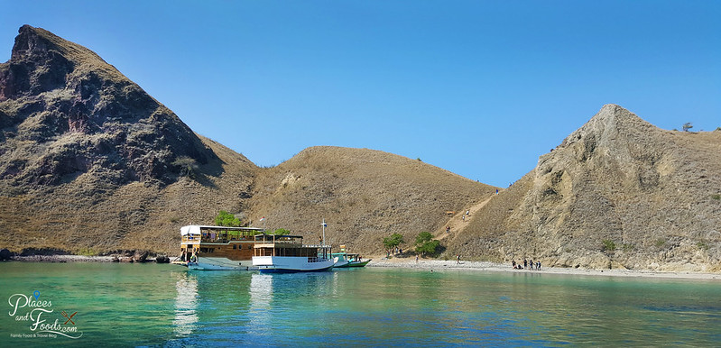 padar island view from boat