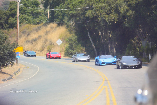 Lamborghini cruising Carmel Valley