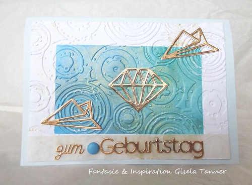 Geburtstagskarte mit plastischem Hintergrund