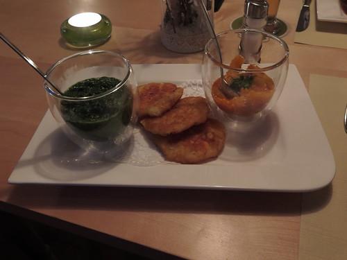 Rösti mit Kürbis und Spinat im Gasthof Au (in Vaduz, Liechtenstein)