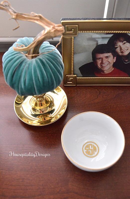 Velvet Pumpkin - Monogrammed bowl - Housepitality Designs