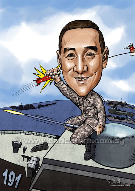 digital caricature for Singapore Navy (watermarked)