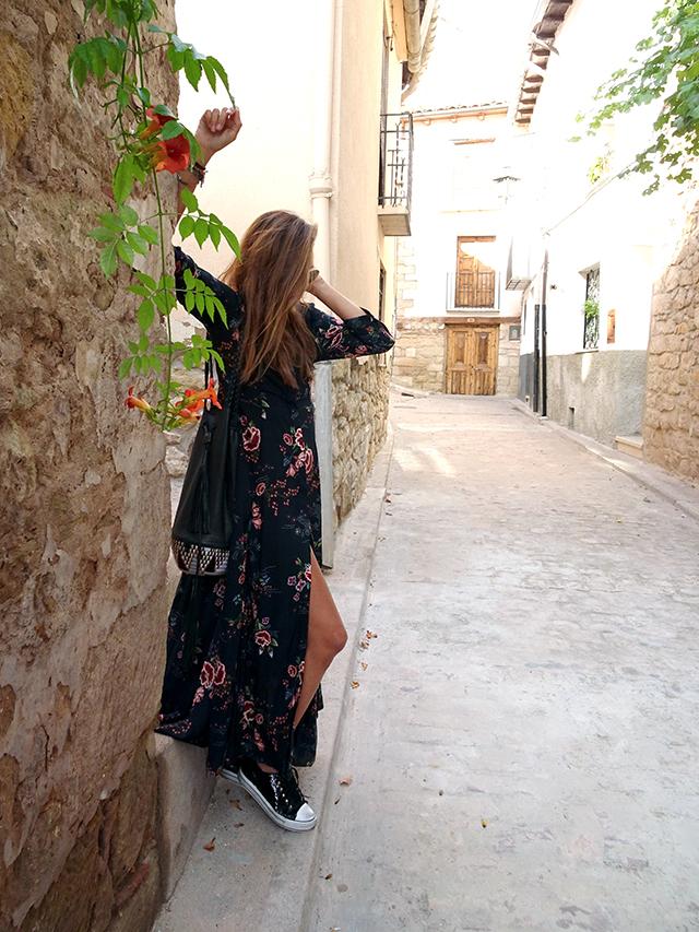vestido largo flores coohuco