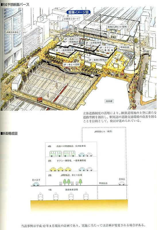 バスタ新宿には公共駐車場を設置する計画も過去にはあった