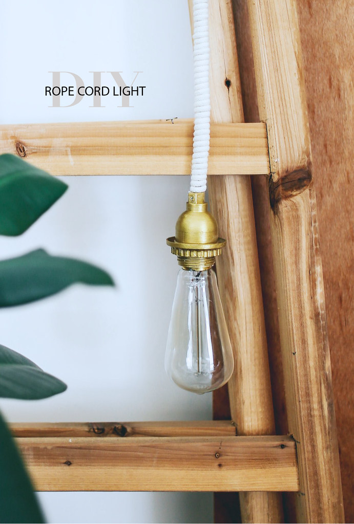 DIY Rope Wrapped Cord Light