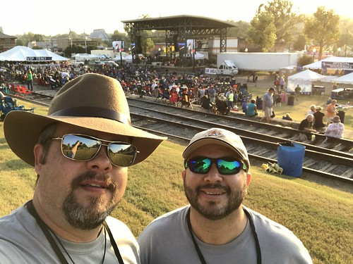 Javier and I at the King Biscuit Blues Festival 2016