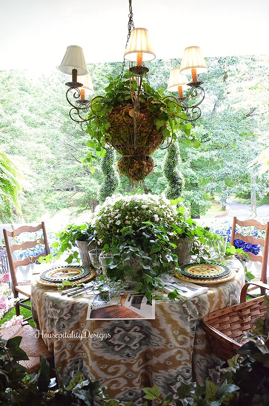 Garden table/Cashiers Showhouse 2016 - Housepitality Designs
