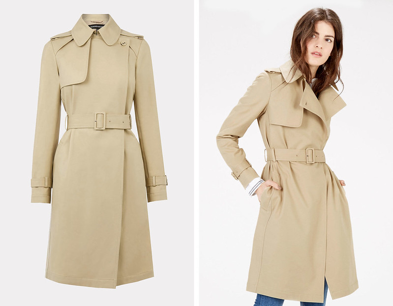 Capsule Wardrobe Pieces That Suit All Body Shapes & Sizes - 7 Classic Trench Coats to Shop | Not Dressed As Lamb, over 40 style