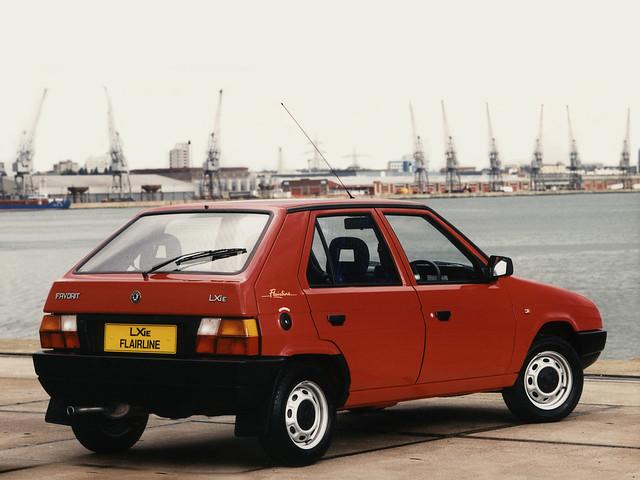 Skoda Favorit Flairline для рынка Британии. 1992 - 1993 годы