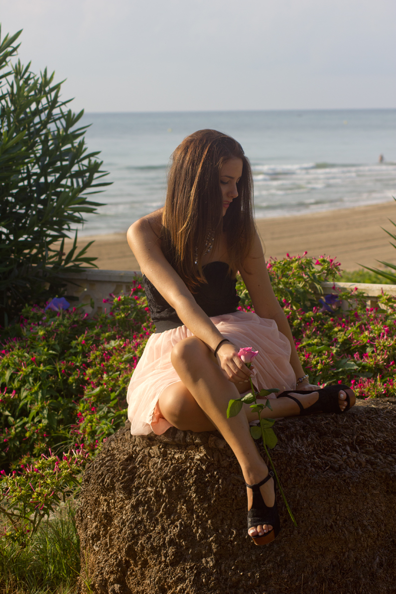 vestido VIPme tacones OASAP HEELSANDROSES Elisabeth Oviedo blog moda vestido palabra de honor falda de vuelo rosa (9)