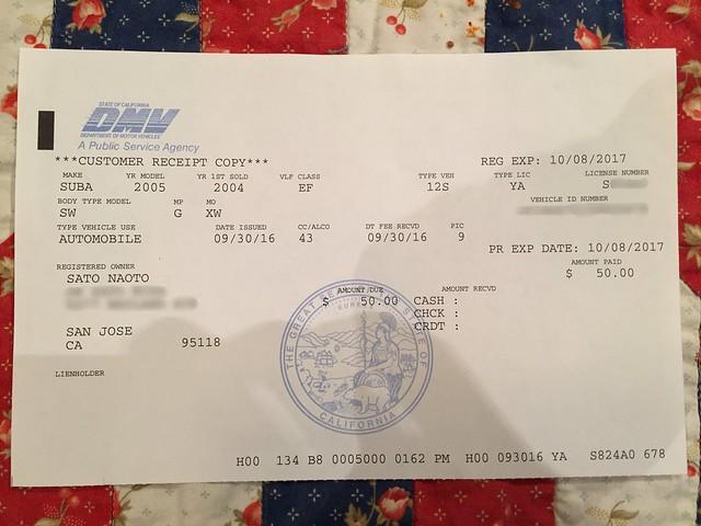 Snoopy plate receipt
