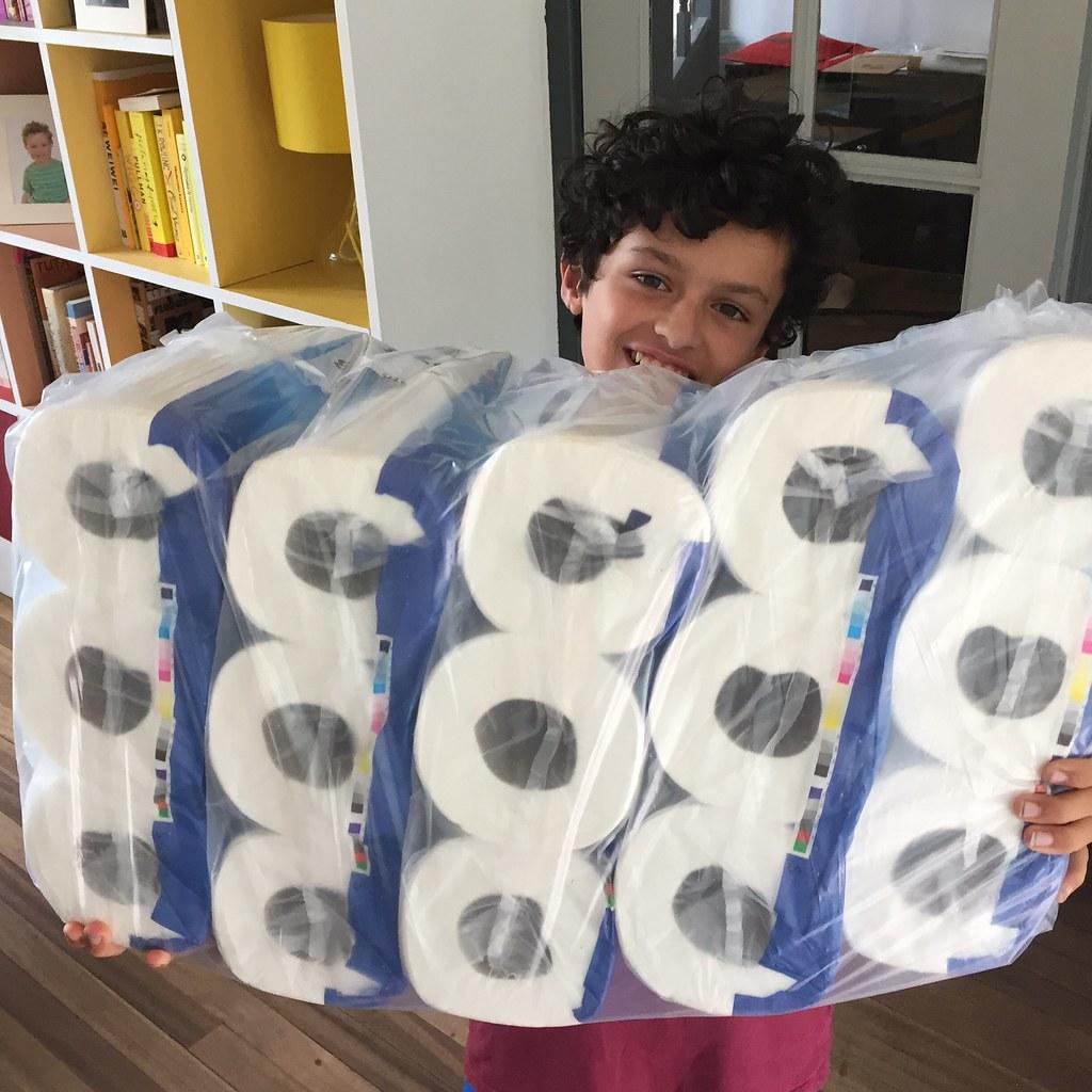 45 toilet rolls