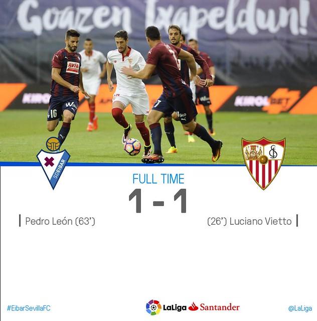 La Liga (Jornada 4): Eibar 1 - Sevilla FC 1
