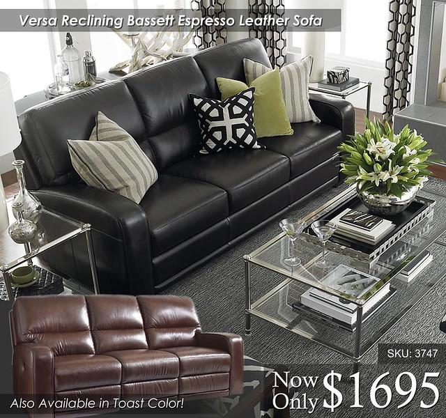 Vera Bassett Reclining Sofa Set 3747-62MEA-FA12