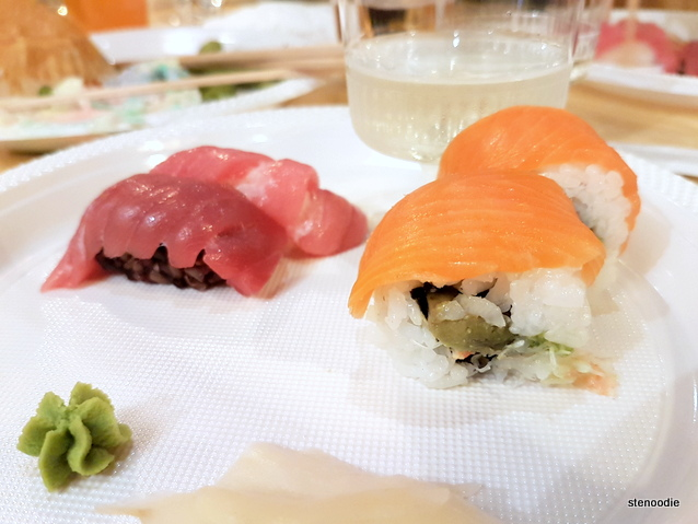 Bluefish Tuna Nigiri, Vancouver Roll, Kemeni Original Sake
