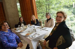 Garden Room, Prospect House: Nora Ananos, Helen Ju, Moira Selinka (Education and Outreach Coordinator), Kathy Hutchins, Victoria Leyton. 10/26/2016-DSC_0038