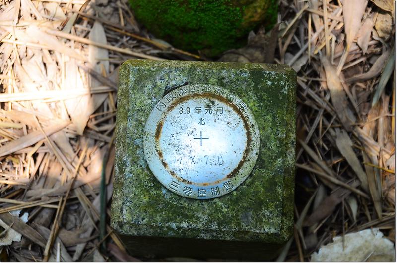 東勢閣山內政部土地測量局MX70號三等控制點