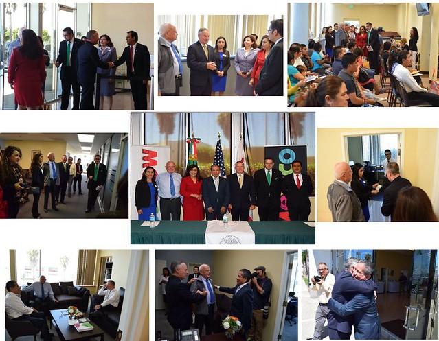 Visita del alcalde de Oxnard al Consulado de México en esta ciudad