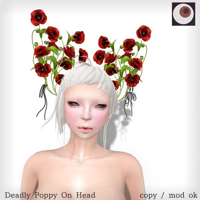 *NAMINOKE*Deadly Poppy On Head