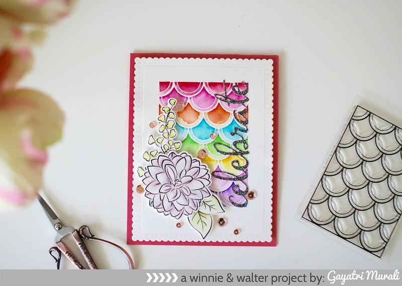 Rainbow Celebrate card flat