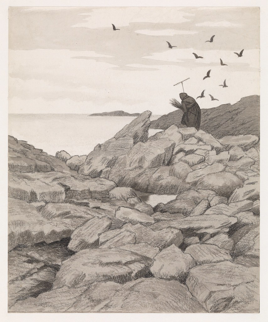 Theodor Kittelsen - Illustration of the Black Death (Pesta drar), 1900