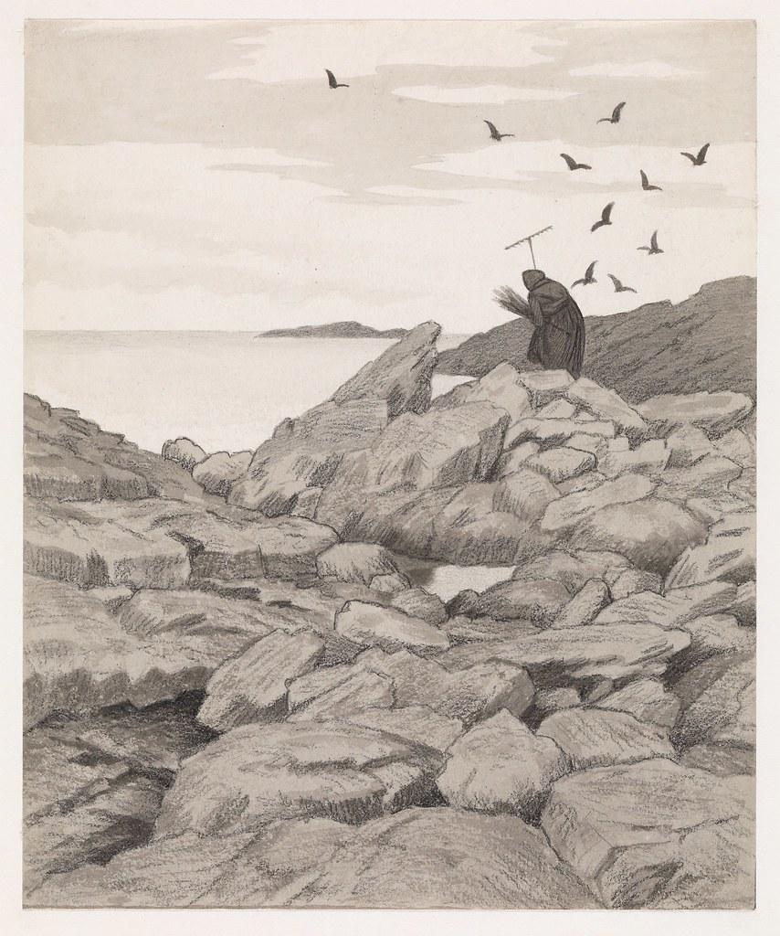 Theodor Kittelsen - Illustration of the Black Death (Pesta drar), 1900
