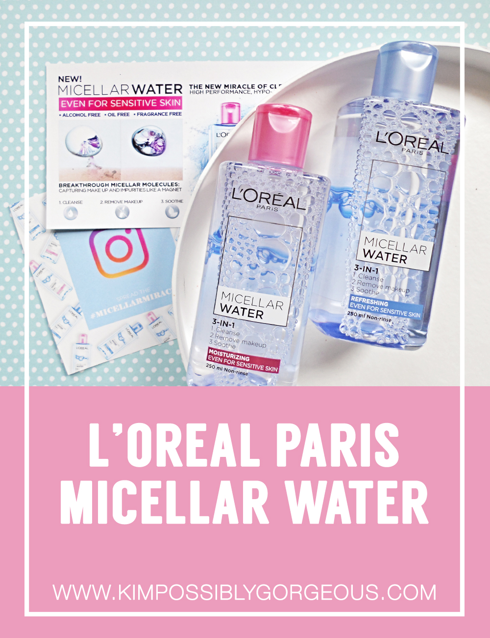 Quick Cleansing Routine Loreal Paris Micellar Water Review L Oreal Makeup 250ml Blue Is Supposed To Remove Clean Face And Hydrate The Skin Without Needing Be Rinsed Off Afterwards When I First Heard Of It