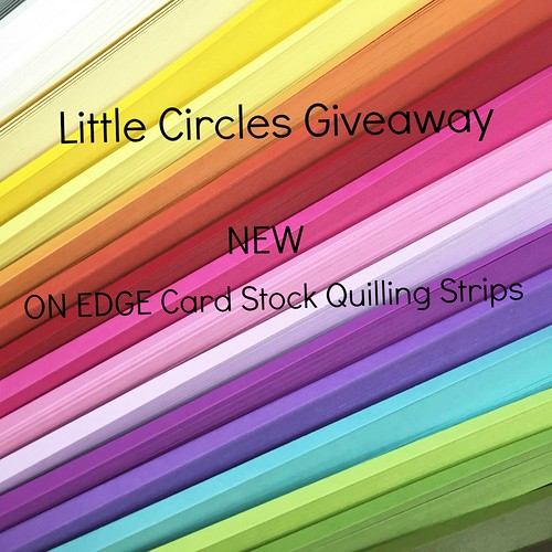 On Edge Card Stock Quilling Paper Strip Color Examples