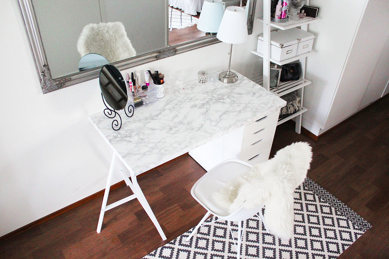 Diy ikea marble makeup table