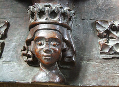 queen on a misericord