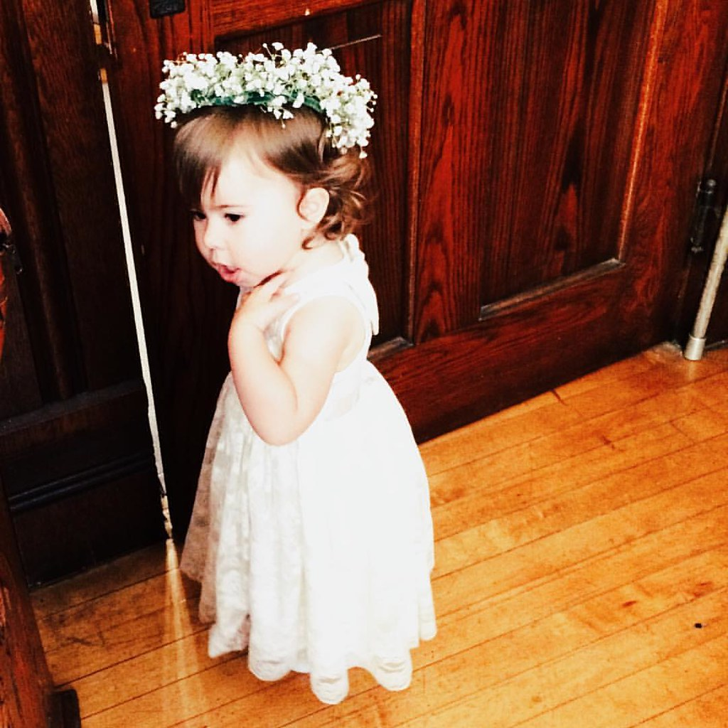 The littlest flower girl. From yesterday. #unclebusgetsmarried #instasinclair #flowergirl  #wedding
