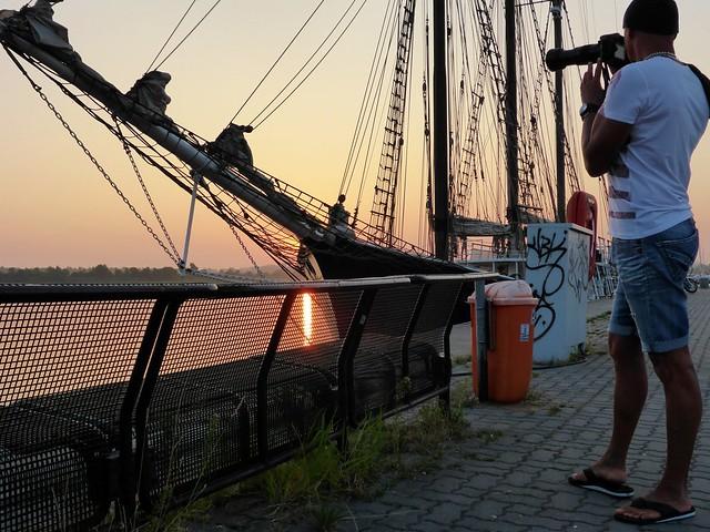 Sonnenuntergang Rostock Stadthafen