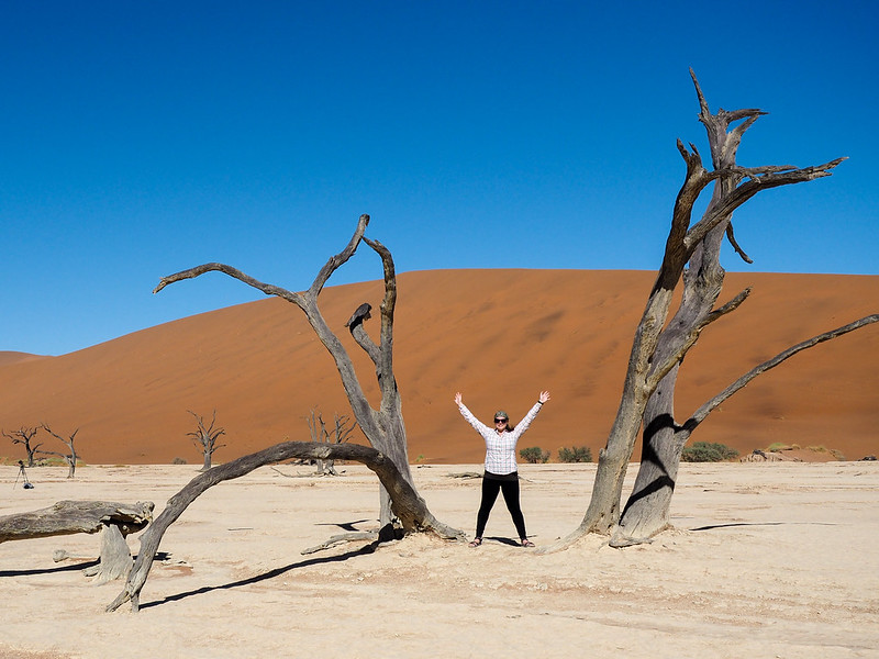 Amanda at Deadvlei in Namibia