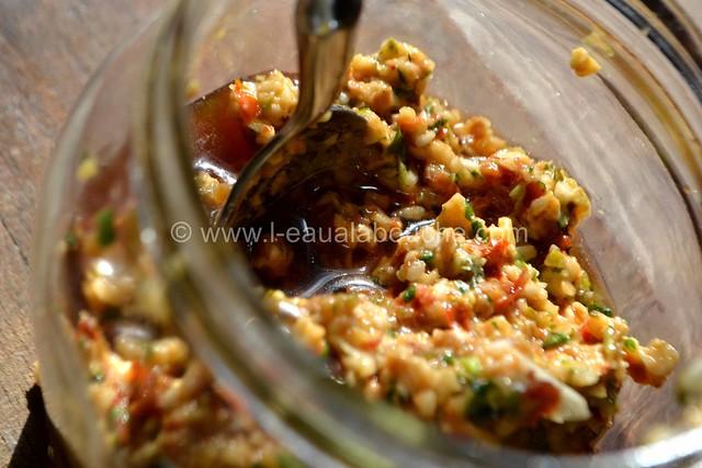 Condiment à l'Ail et  aux Tomates Séchées © Ana Luthi Tous droits réservés 005