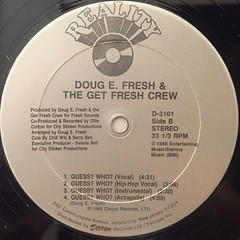 DOUG E. FRESH AND THE GET FRESH CREW:KEEP RISIN' TO THE TOP(LABEL SIDE-B)