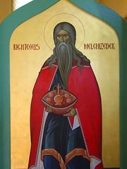 ikonostasis door: High Priest Melchizedek