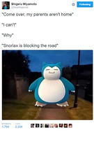 Snorlax in Road