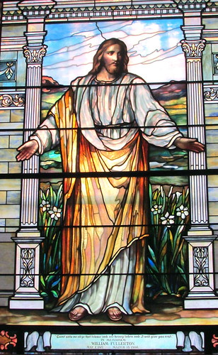 Stained Glass Window View 1: Jesus